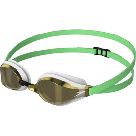 speedo Fastskin Speedsocket 2 Mirror Svømmebriller, green glow/white/gold